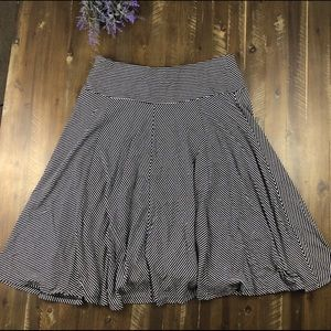 Talbots A-line Striped Rayon Skirt Size M